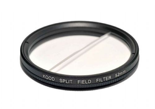 Split Field Filter +2 Diopter 52mm in Slim Rotating Ring Split-Field 52mm Filter